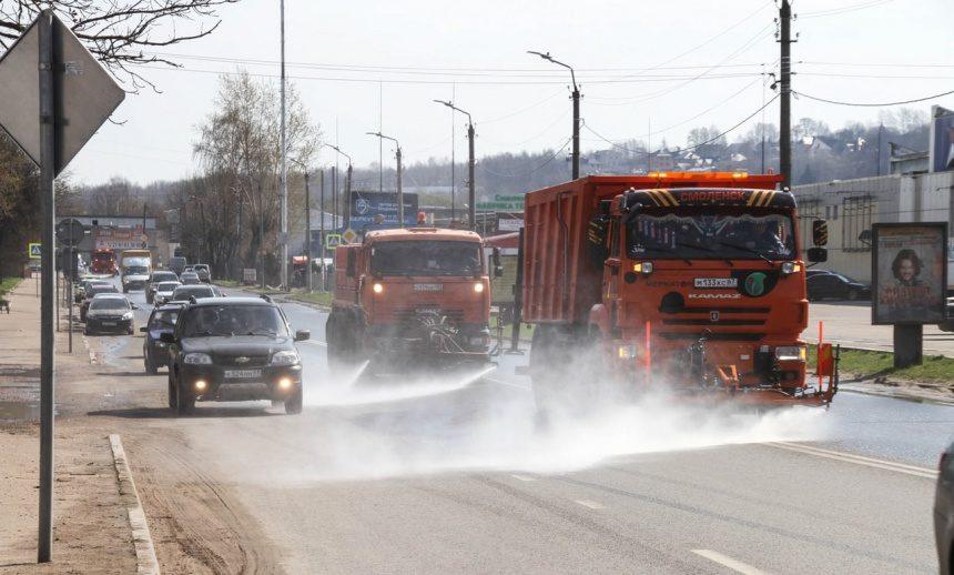 Смоленские улицы пообещали помыть шампунем