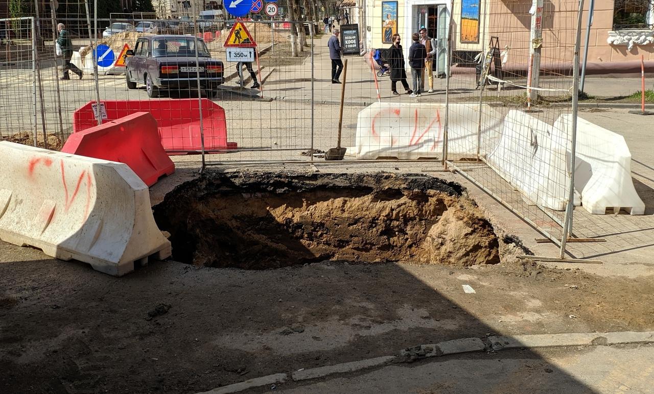 В Смоленске нашли старую булыжную мостовую