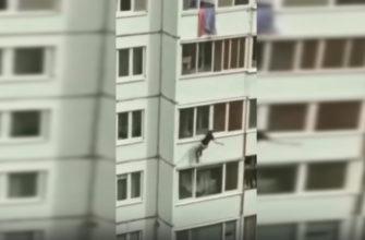 В Сети появилось видео падения смолянина из окна многоэтажки